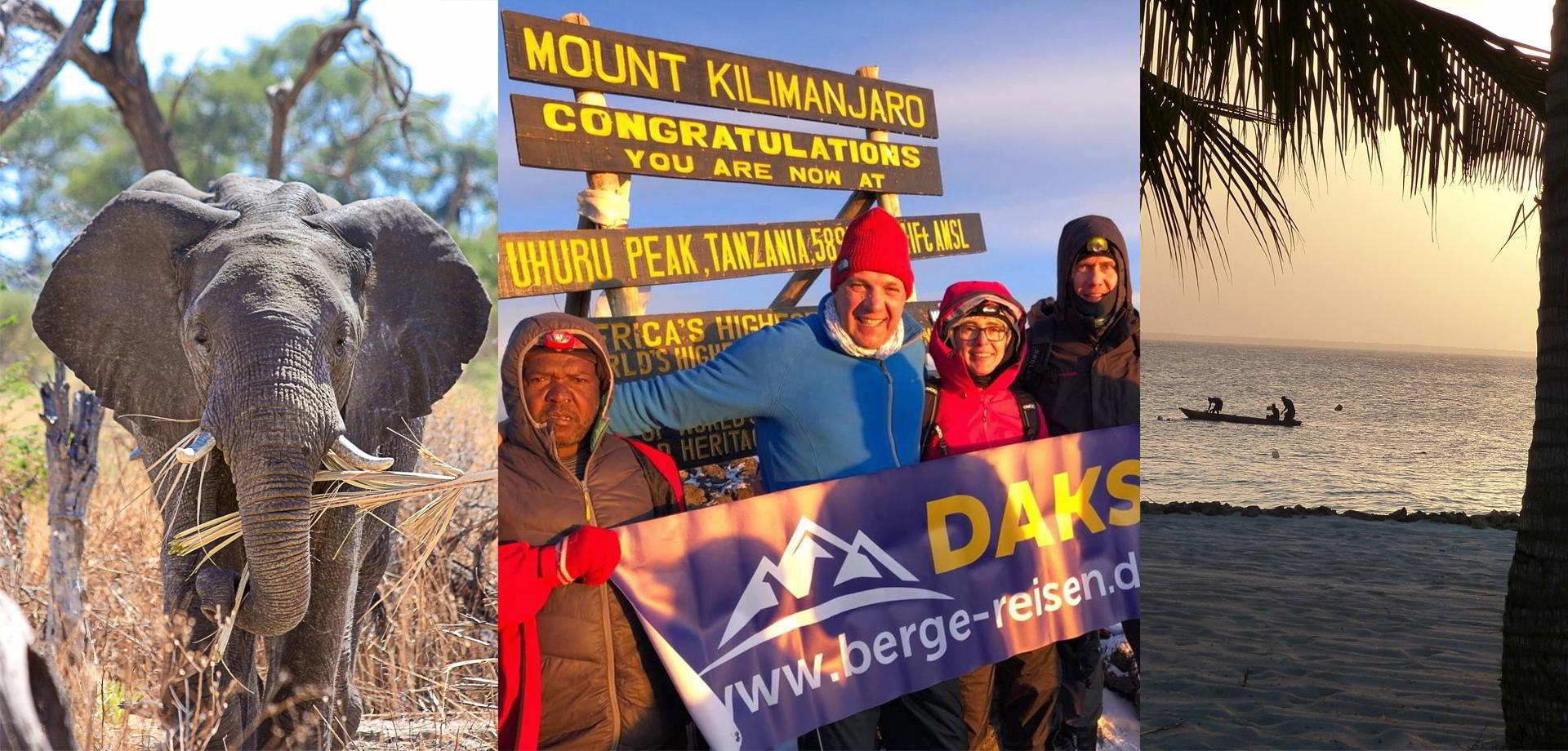 Kilimanjaro Reise Safari-Berge-Sansibar