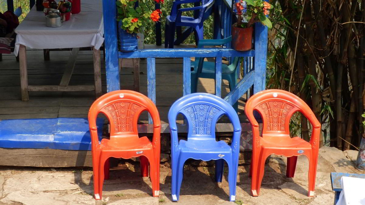 Nepal Trekking Annapurna BC Himal Restaurant Stühle