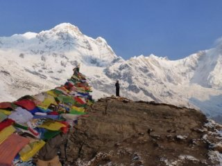 Nepal Trekking Annapurna Gletscher Randmoräne
