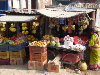 Nepal Trekking Kathmandu Obststand