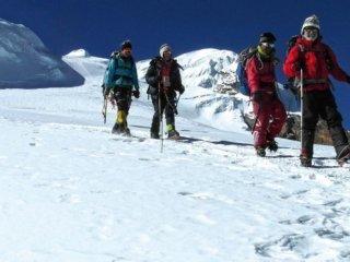 Nepal Trekking Mera-Peak Gletscher Abstieg