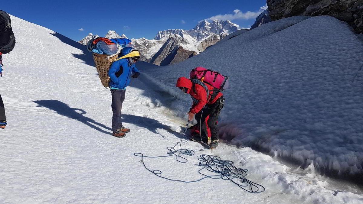 Nepal Trekking Mera-Peak Gletscher