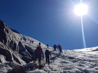 Nepal Trekking Mera-Peak Eisfeld