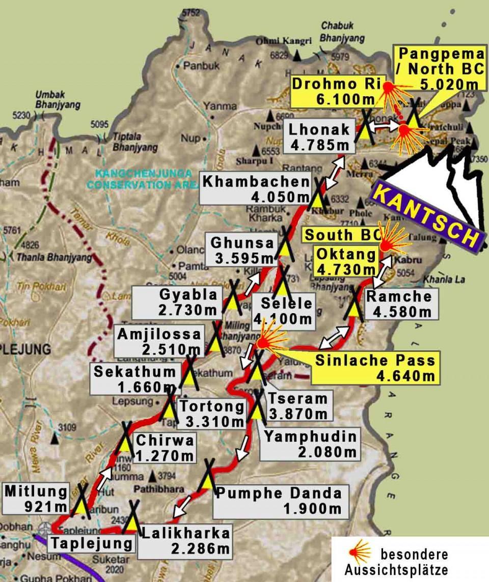 Nepal Kangchenjunga Map