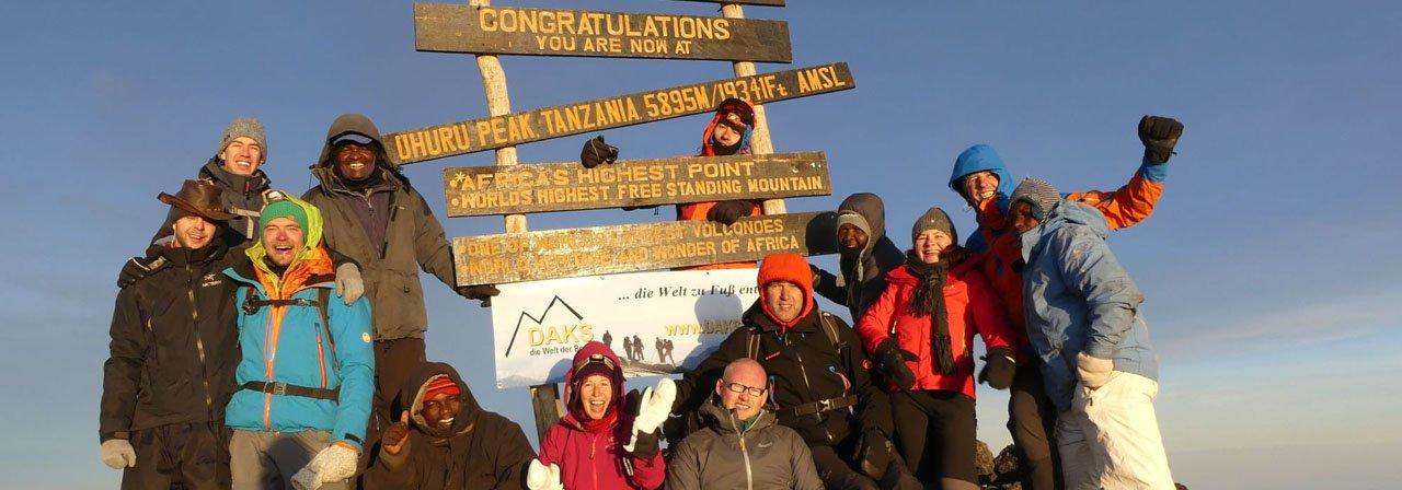 Gipfel des Kilimanjaro