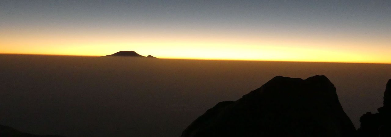 Blick zum Kilimanjaro