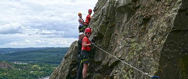Klettersteigkurs im Hunsrück