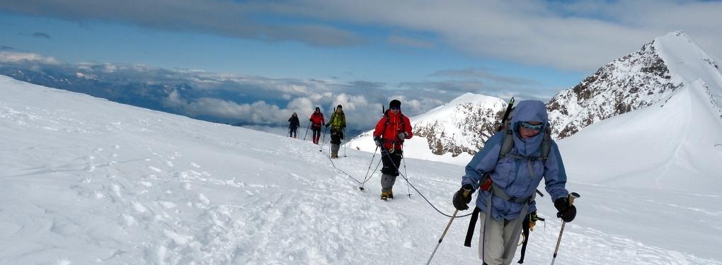 Seilschaft Lys-Gletscher