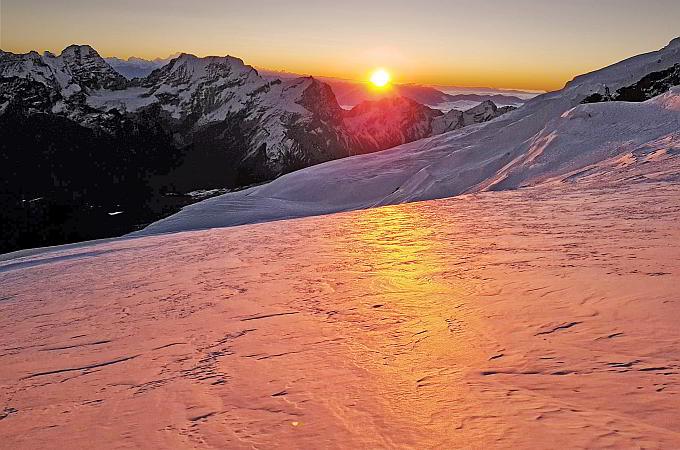 Mera Peak - Sonnenaufgang am Gletscher