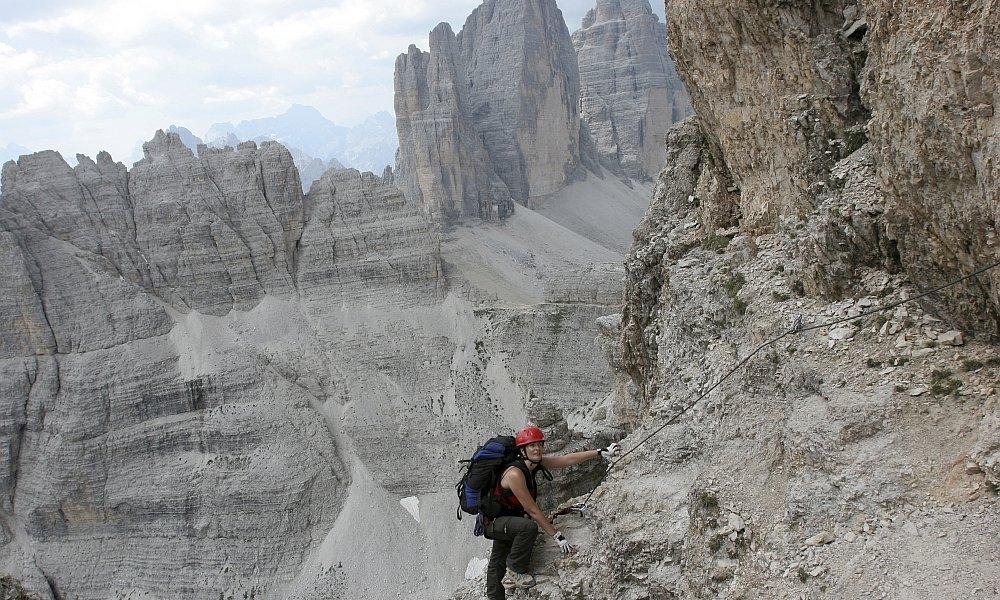 Klettersteig Rucksack : Klettersteige drei zinnen in den sextener dolomiten daks tour