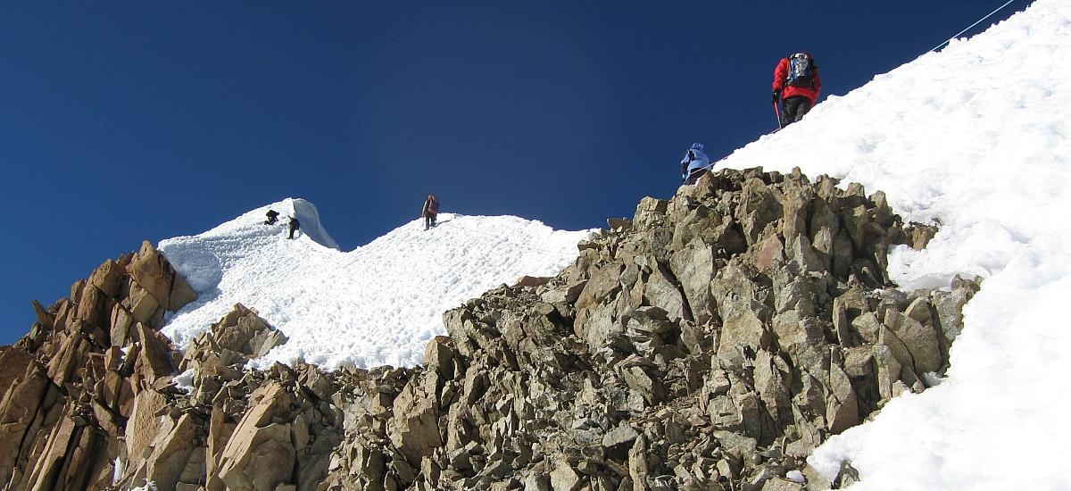 Potosi Gipfelgrat