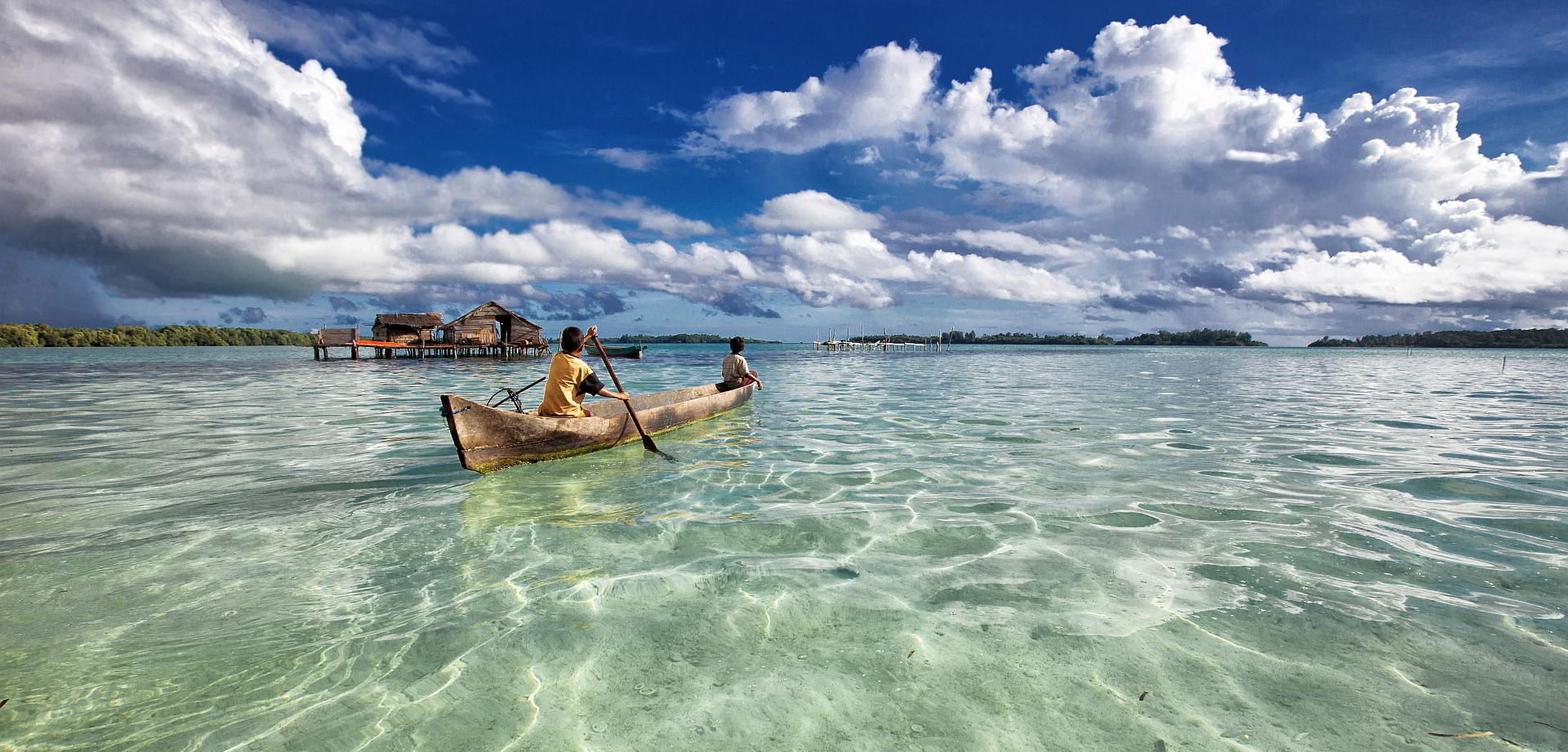 Boot im Raja Ampat