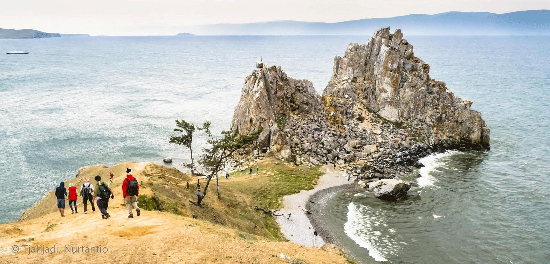 Russland Trekking - Baikalsee Olchon Schamanenfelsen