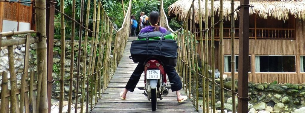 Vietnam Bambusbrücke