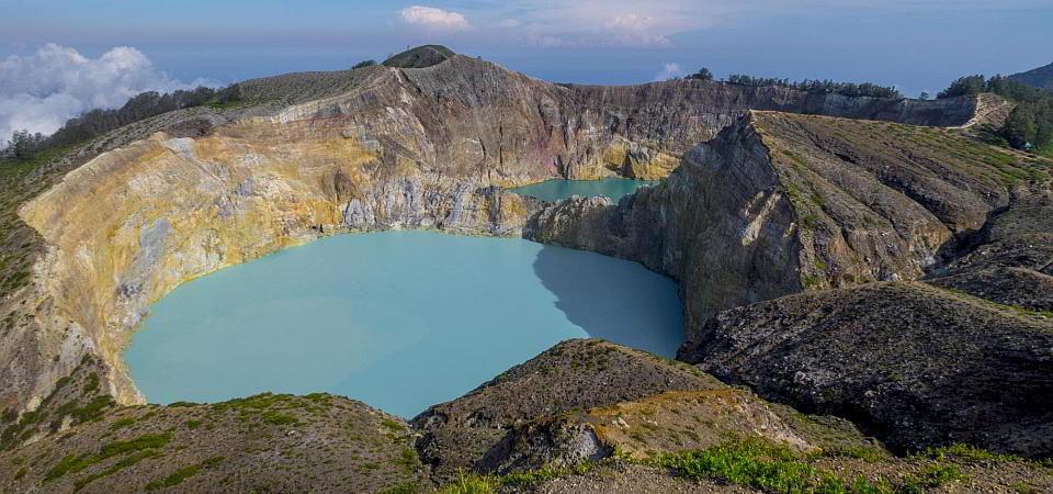 Vulkan Kelimutu auf Flores
