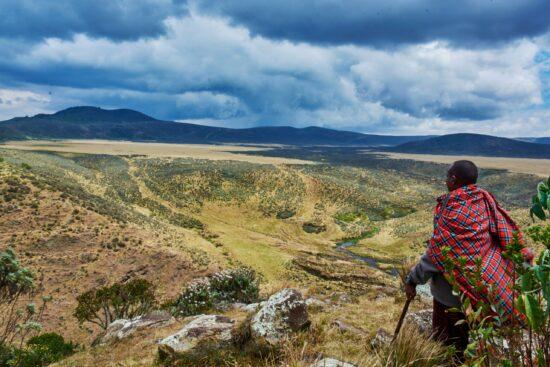 Vulkan Olmoti im Maasai Land